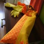 Bolsa de pan de boquilla y guantes