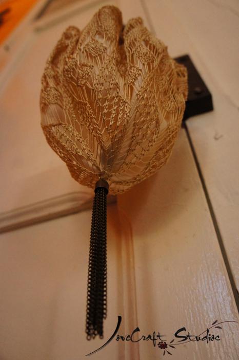 Detalle bolso boquilla extensible a ganchillo o crochet